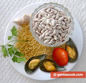 Pasta, fagioli e cozze