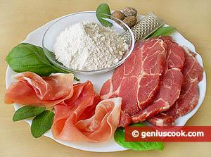 Ingredienti Saltimbocca all'Alfredo