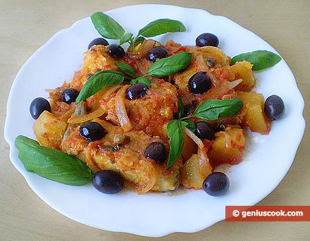Baccalà, olive e capperi