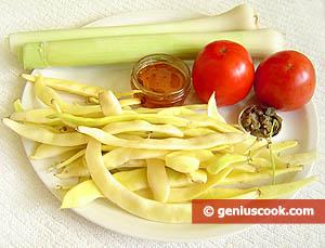 Ingredienti - Fagiolini e porri