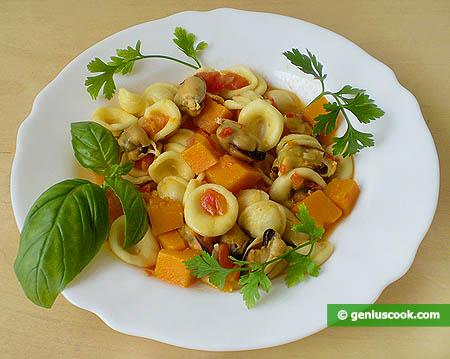 Orecchiette, fagioli e cozze