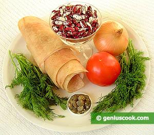 ingredienti fagioli e cotiche