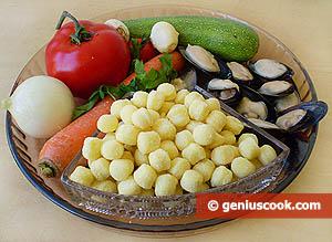 ingredienti-gnocchetti, cozze e ortaggi