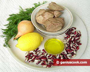 ingredienti insalata fagioli fegato tacchino