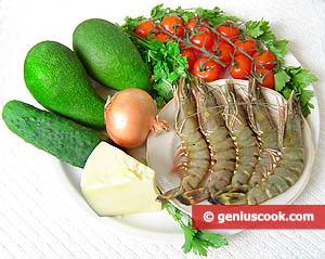 ingredienti insalata avocado