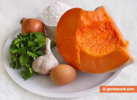 Ingredienti per i Ravioli di zucca