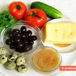 Ingredienti per Antipasto con caviale di luccio e uova di quaglia