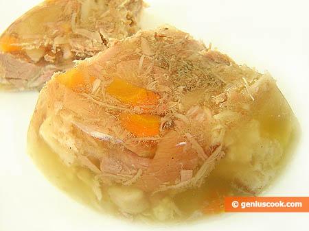 Carne in gelatina (Holodiets)-sezione