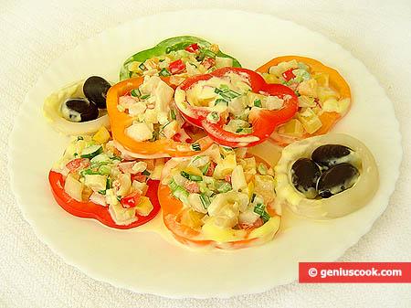 Porzione di insalata