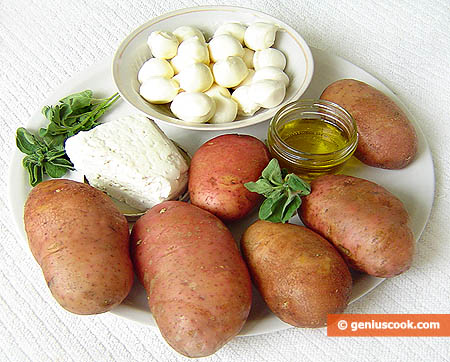 Ingredienti - Patate ripiene al forno