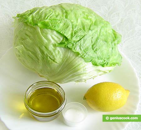 Ingredienti per l'insalata Iceberg