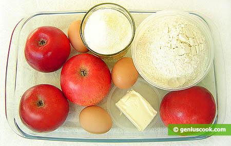 Ingredienti per la torta Charlotte