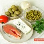 Ingredienti per antipasto di trota marinata e gorgonzola