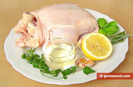 Ingredienti per il pollo allo spiedo