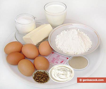 ingredienti per il Panettone russo