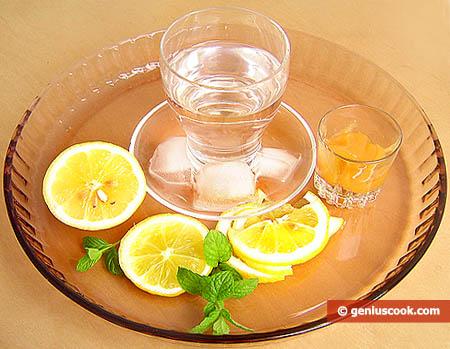 Ingredienti per la limonata alla menta