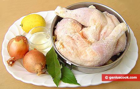 Ingredienti per le cosce di pollo alla brace