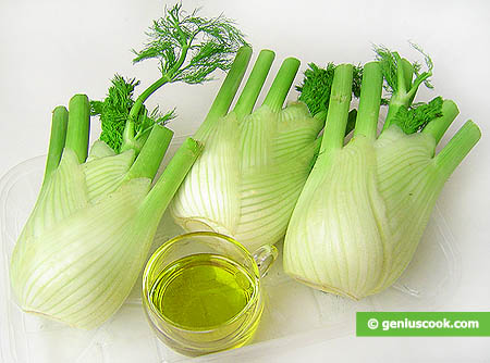 Ingredienti per i finocchi gratinati
