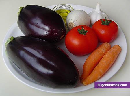 Ingredienti per il patè di melanzane