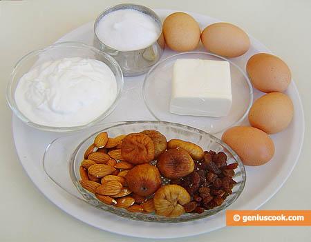 Ingredienti per il plumcake alla frutta secca