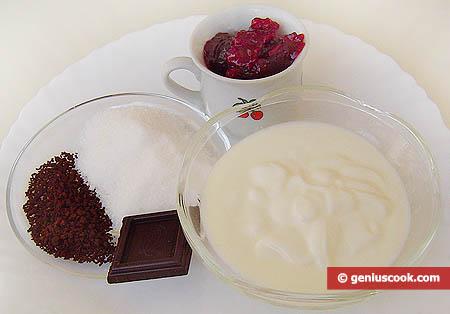 Ingredienti per il gelato al caffè