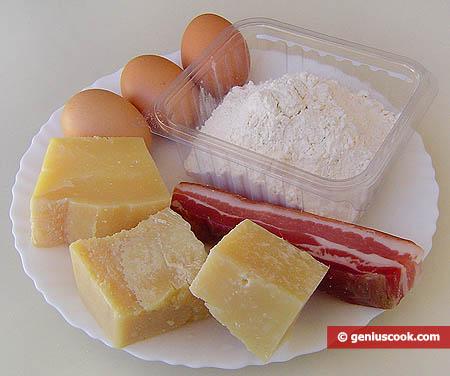Ingredienti per i panini al forno alla napoletana