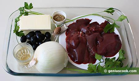 Ingredienti per il patè di fegato di coniglio