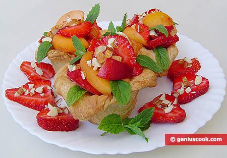 Canestrelli di pasta sfoglia alla frutta