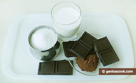 Ingredienti per il gelato al cioccolato
