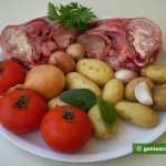 Ingredienti per le stestine d'agnello al forno