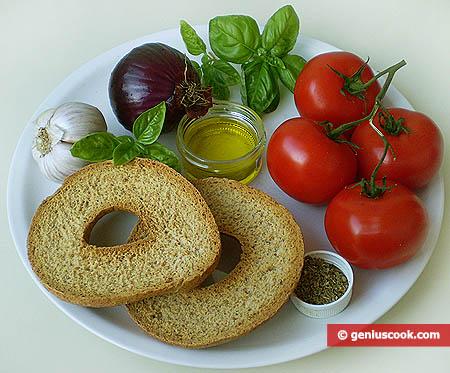 Ingredienti per la caponata napoletana