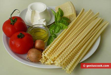 Ingredienti per le Mafalde al pomodoro e ricotta