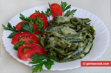 Fagiolini verdi al formaggio