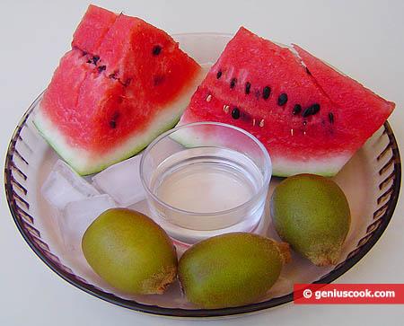 Ingredienti per il calice di frutta fresca al gin