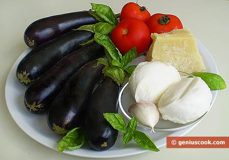ingredienti per la parmigiana di melanzane