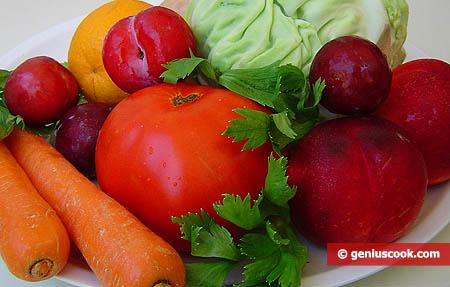 alcuni prodotti di frutta e verdura