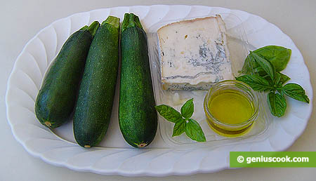 ingredienti per gli zucchini fritti al gorgonzola