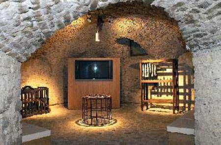 Interno del museo del salame di Felino