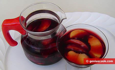 Pesche nettarine al vino rosso