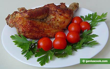 """metà """"Pollo fritto al rosmarino"""""""