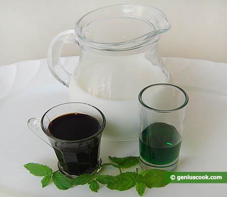 ingredienti per il cocktail Latte, menta e tamarindo