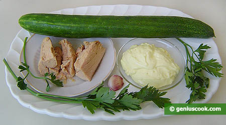 ingredienti per i cetrioli ripieni