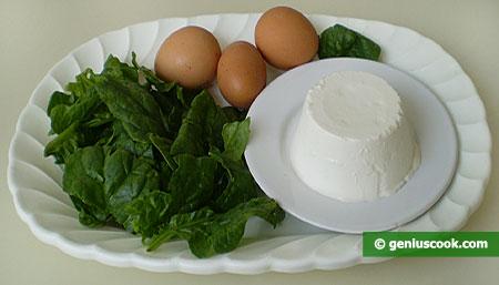 ingredienti per gli gnocchetti di ricotta e spinaci