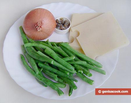 ingredienti per la Minestra di fagiolini freschi e formaggio