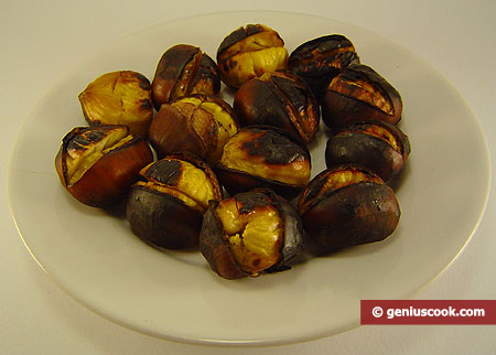 Caldarroste, castagne arrostite
