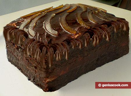 """Torta """"Latte di uccello"""" con gelatina di latte e glassa di cioccolato"""