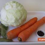 ingredienti per inacidire il Cavolo cappuccio (crauto bianco)