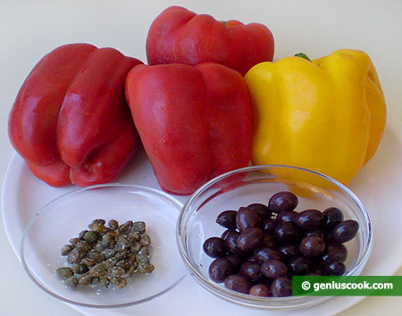 ingredienti per i Peperoni gratinati