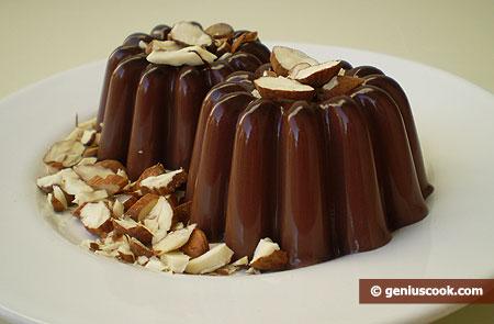 Gelatine di cioccolato alle mandorle
