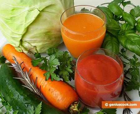Vegetali e succhi naturali